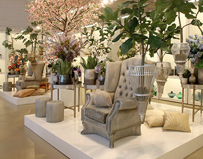 DPI Artificial Flowers and Home Accessoires in Showroom